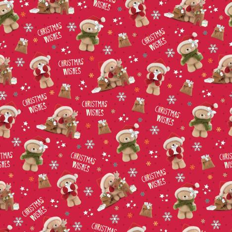 3m Forever Friends Christmas Wishes Red Roll Wrap
