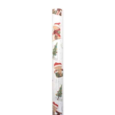 3m Forever Friends Christmas Wishes White Roll Wrap