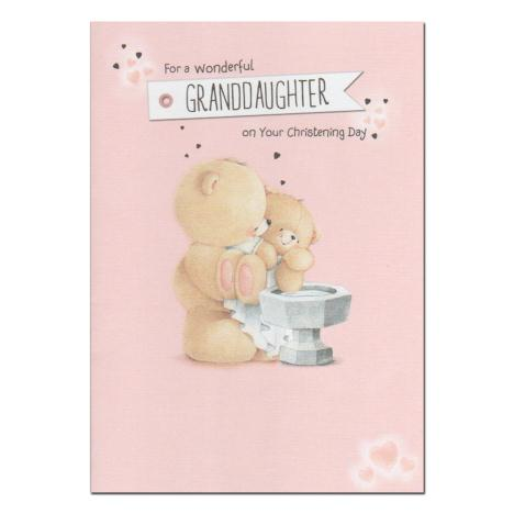 Granddaughter Christening Day Forever Friends Card