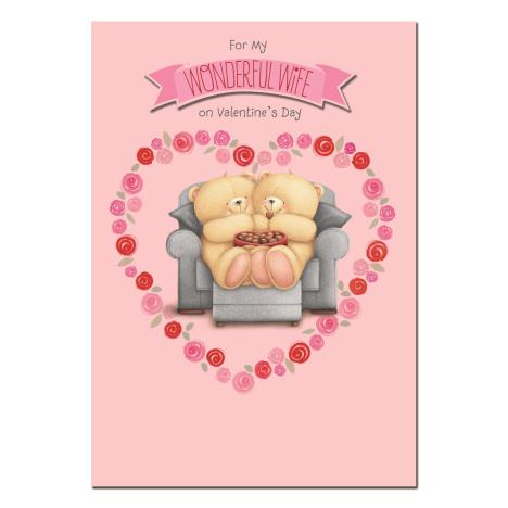 Wonderful Wife Forever Friends Valentines Day Card