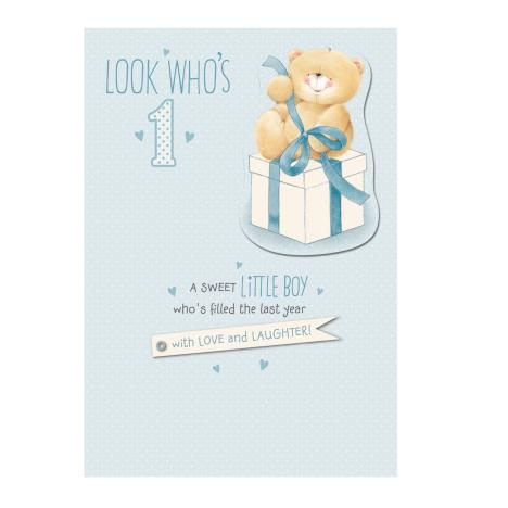 1st Birthday Little Boy Forever Friends Card