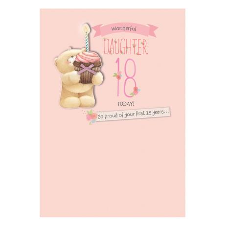 18th Birthday Daughter Forever Friends Card