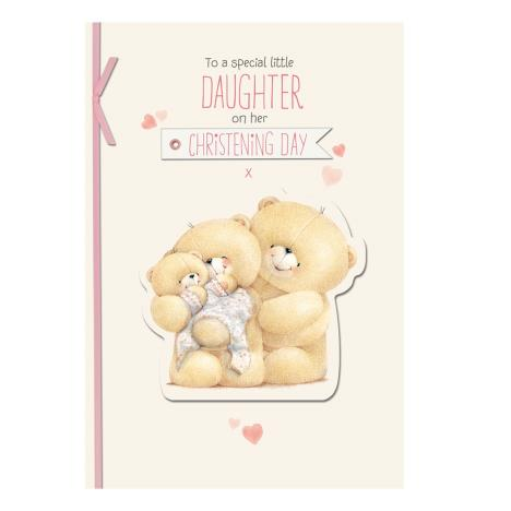 Daughter on Christening Day Forever Friends Card