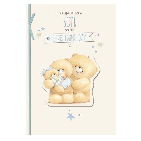 Son on Christening Day Forever Friends Card