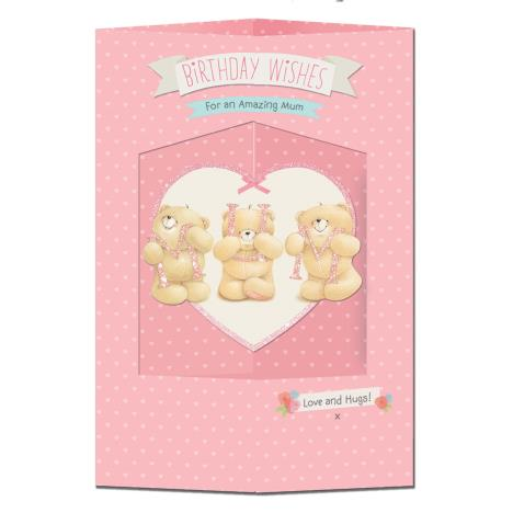 Mum Hanging Heart Forever Friends Birthday Card