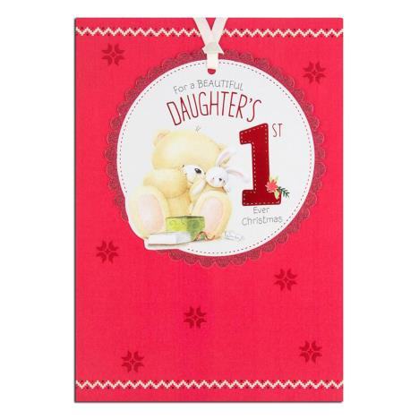 Daughters 1st Christmas Forever Friends Christmas Card