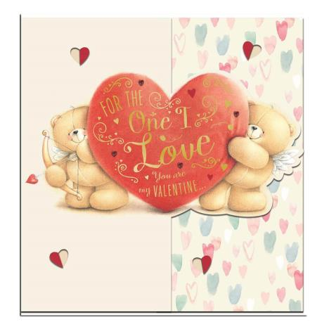 One I Love Square Forever Friends Valentines Day Card