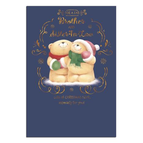Brother & Sister in Law Forever Friends Christmas Card