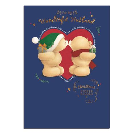 Wonderful Husband Forever Friends Christmas Card