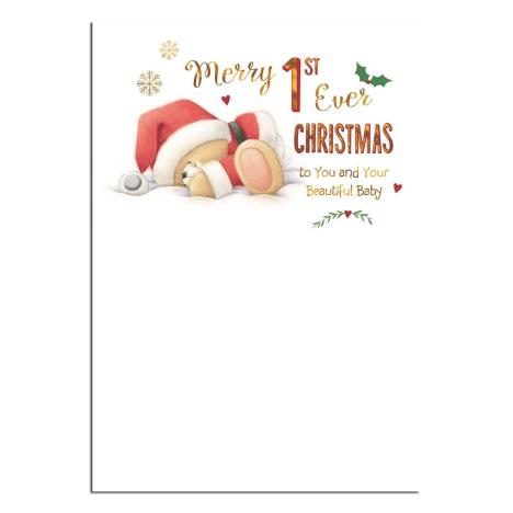 Baby 1st Christmas Forever Friends Christmas Card