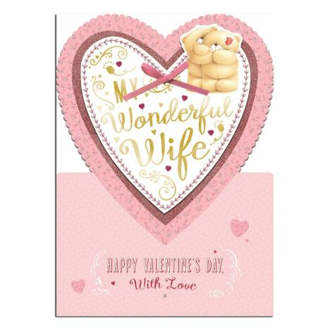Large Wife Standing Forever Friends Valentines Day Card