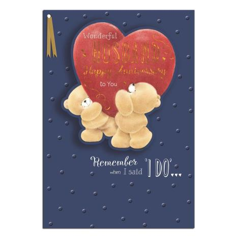 Wonderful Husband Large Forever Friends Anniversary Card