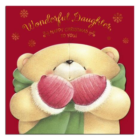 Wonderful Daughter Forever Friends Christmas Card