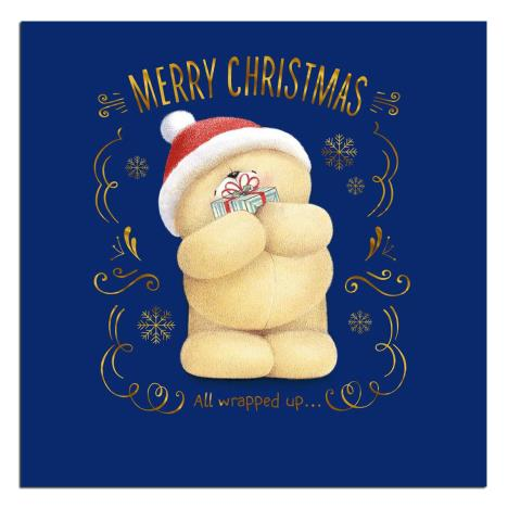Merry Christmas Holding Present Forever Friends Christmas Card