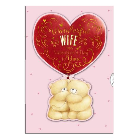 Floating Heart Wife Forever Friends Valentines Day Card