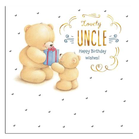 Lovely Uncle Forever Friends Birthday Card