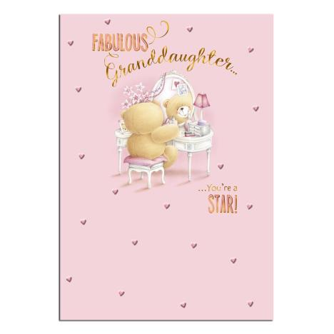 Fabulous Granddaughter Forever Friends Birthday Card