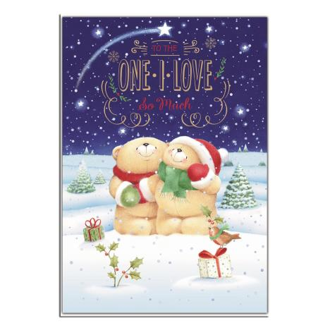 One I Love 3D Holographic Forever Friends Christmas Card