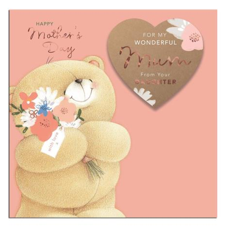Mum From Your Daughter Forever Friends Keepsake Mothers Day Card