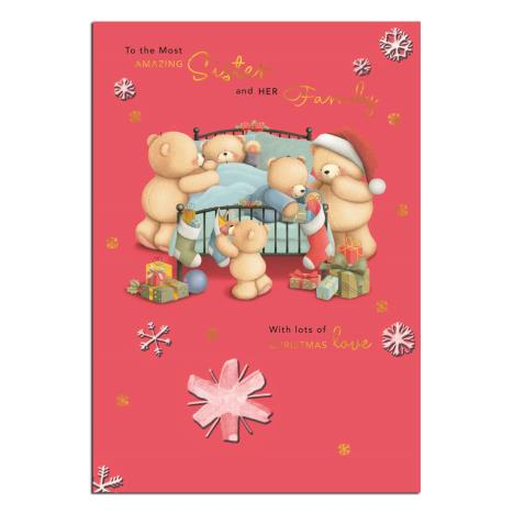 Amazing Sister & Family Forever Friends Christmas Card