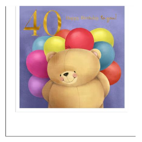 40th Birthday Forever Friends Card