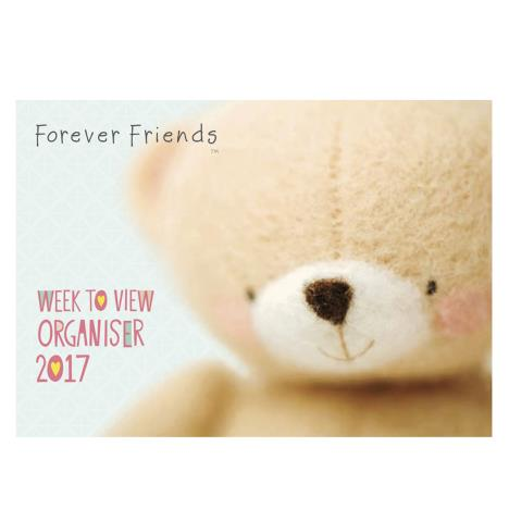 A4 Forever Friends Week-to-View Family Organiser 2017