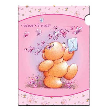 A4 Forever Friends Pink Plastic Folder