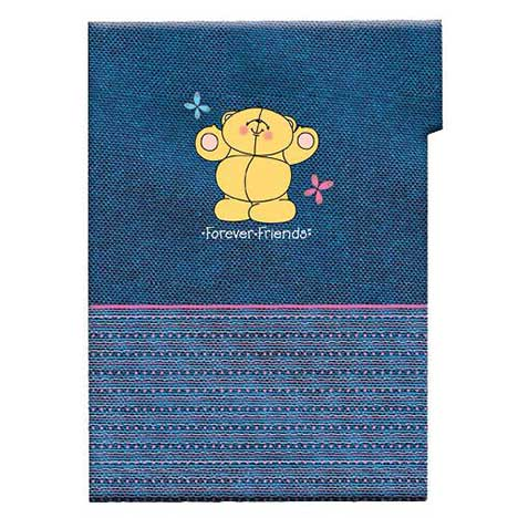 A4 Forever Friends Blue Plastic Folder