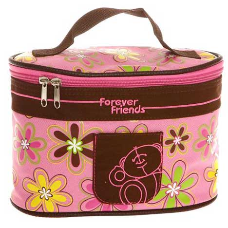 Forever Friends Oval Cosmetic Case