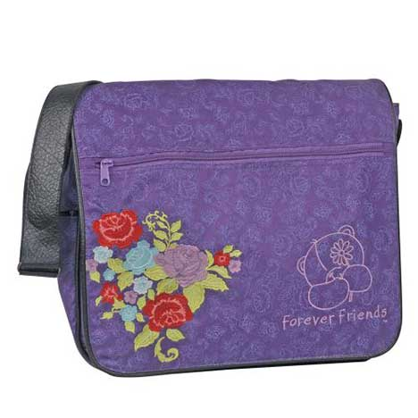 Forever Friends Flower Canvas Messenger Bag
