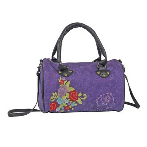 Forever Friends Flowery Purple Handbag