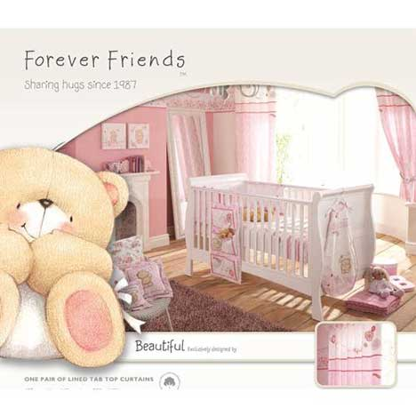 Forever Friends Beautiful Lined Tab Top Curtains
