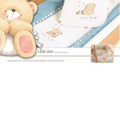 Forever Friends Little Star Changing Mat Cover with 2 Mats