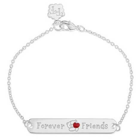 Forever Friends Silver Plated ID Bracelet