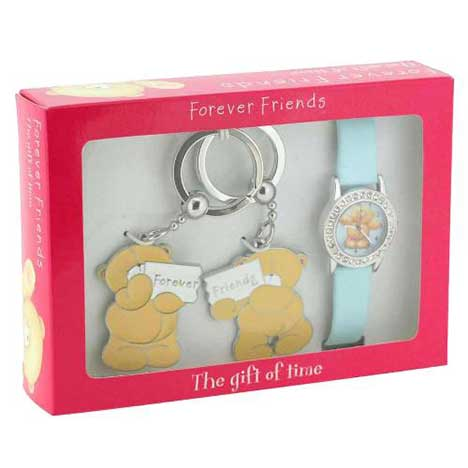 Forever Friends Watch with Gems & 2 Part Keyring