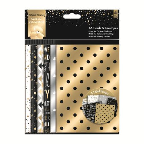 A6 Classic Decadence Forever Friends Cards & Envelopes