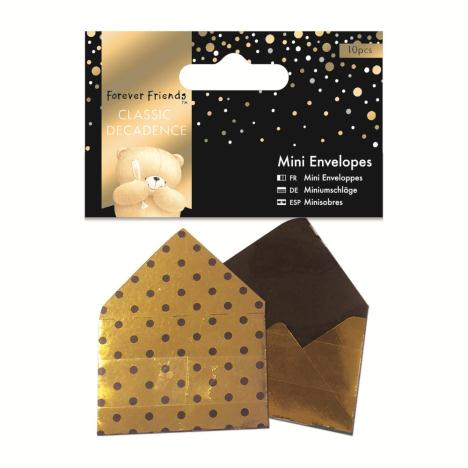 Classic Decadence Forever Friends Gold Mini Envelopes