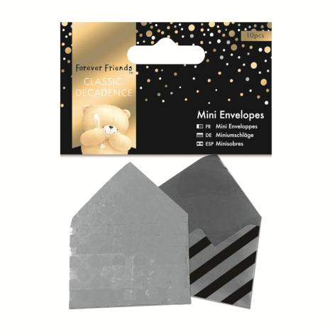 Classic Decadence Forever Friends Silver Mini Envelopes