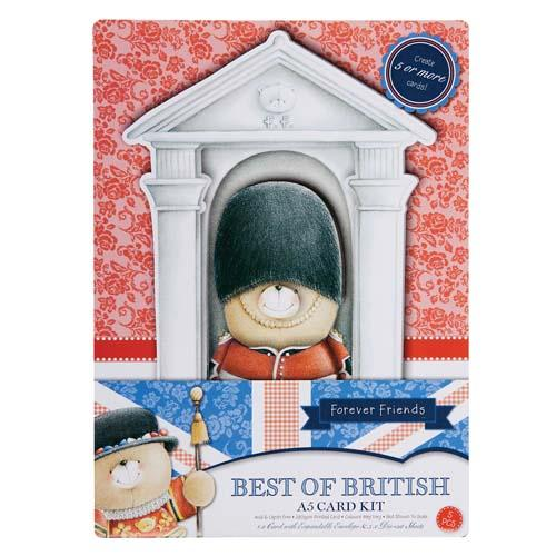 A5 Queens Guard Best of British Card Kit