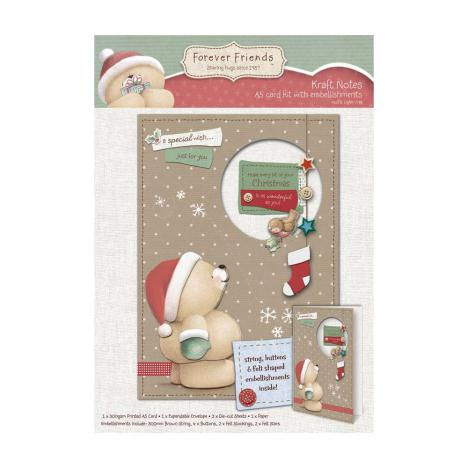 A5 Embellished Forever Friends Christmas Decoupage Card Kit