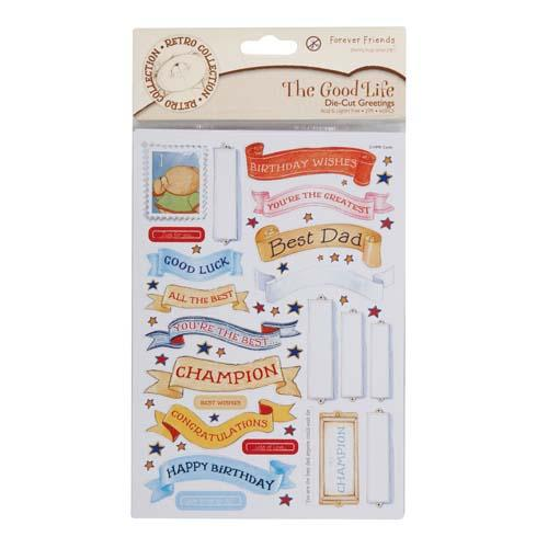 A5 Greetings The Good Life Die-Cut Greetings (Pack of 2)