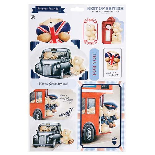 A4 Great Day Out Best of British Die-Cut Toppers