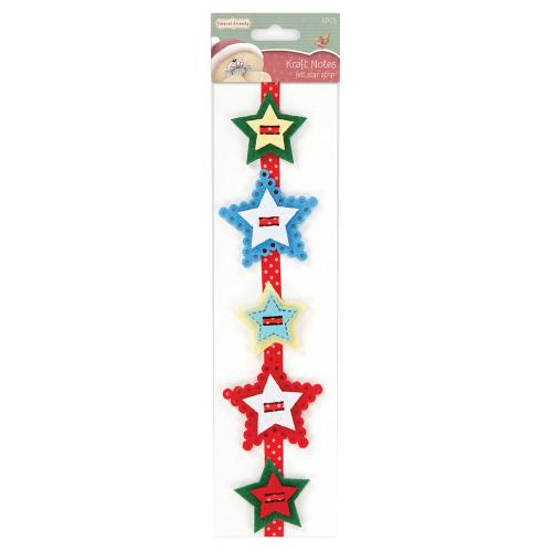 Felt Star Strip - Christmas Kraft Notes