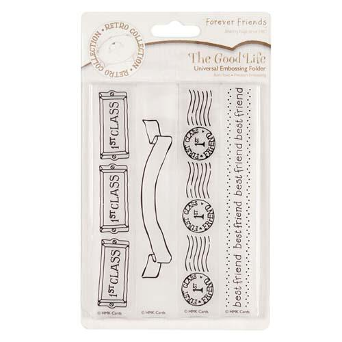 Greetings The Good Life Universal Embossing Folder
