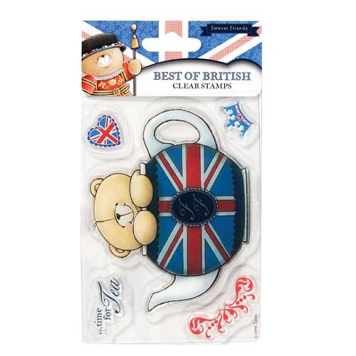 Time for Tea Best of British Mini Clear Stamps