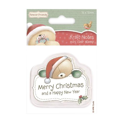 Merry Christmas Forever Friends Mini Clear Stamps