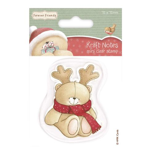 75 x 75mm Christmas Antlers Forever Friends Mini Clear Stamps