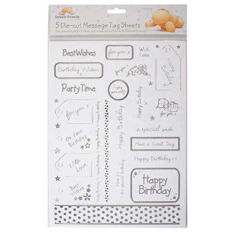 Die-Cut Forever Friends Message Tags (Pack of 5)