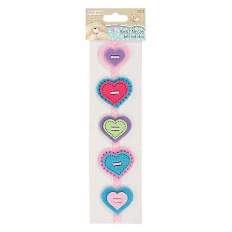 Kraft Notes Forever Friends Felt Heart Strip