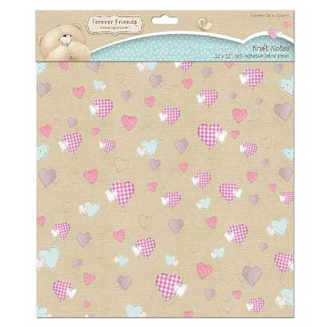 12 x 12 Kraft Notes Forever Friends Fabric Paper Pack